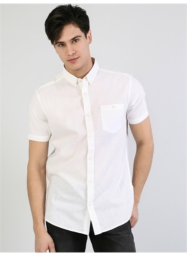 Colin's CL1043017_Q1.V2_WHT Erkek Kısa Kol Gömlek Beyaz